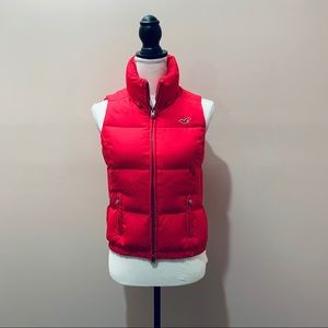 Hollister Hot Pink Puffer Vest